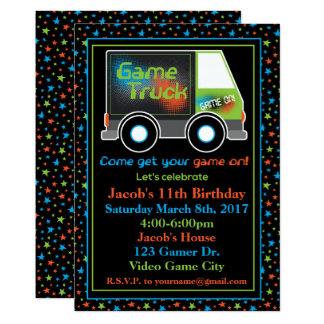 Spiel-LKW, Videospiel-Geburtstags-Party Einladung
