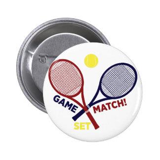 Spiel-Match-Set Runder Button 5,7 Cm
