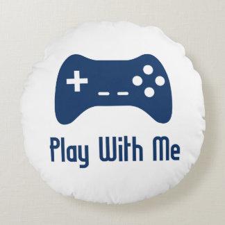 Spiel mit mir Videospiel Rundes Kissen