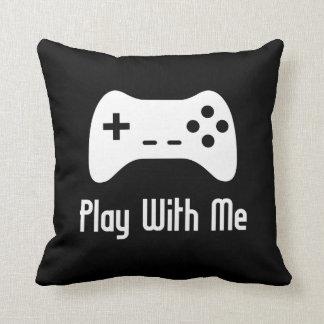 Spiel mit mir Videospiel (Schwarzes) Zierkissen