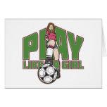 Spiel mögen einen Mädchen-Fußball Karte