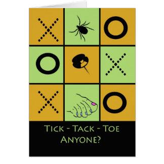 Spiel-NachtParty Einladung, Tic Tac Zehe-Spaß Karte