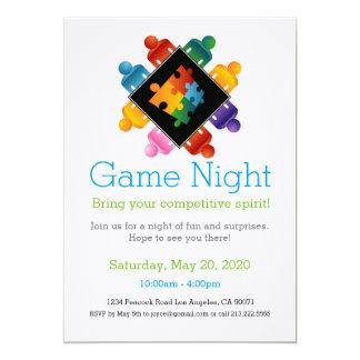 Spiel-NachtParty Einladungs-Puzzlespiel-Team Karte