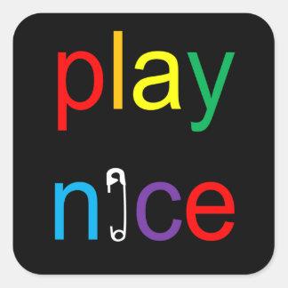 Spiel-Nizza Quadratischer Aufkleber