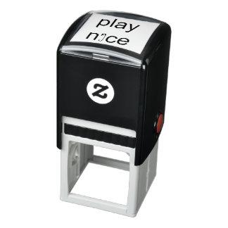 Spiel-Nizza Sicherheits-Button-Gummi-Briefmarke Permastempel