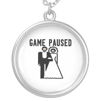 Spiel pausierte Braut u. Bräutigam Versilberte Kette