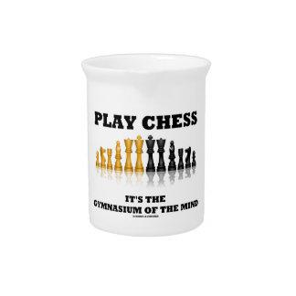 Spiel-Schach ist es die Turnhalle des Verstandes Getränke Pitcher