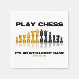 Spiel-Schach ist es ein intelligentes Servietten