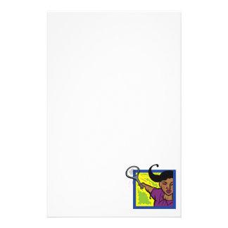 Spiel-Tennis Briefpapier