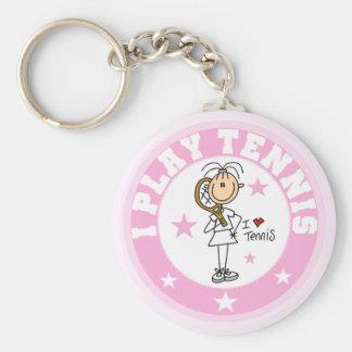 Spiel-Tennist-shirts und -geschenke des Mädchen-I Standard Runder Schlüsselanhänger