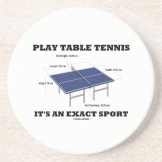 Spiel-Tischtennis ist es ein genauer Sport (Spaß) Sandstein Untersetzer