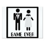 Spiel über Brautpaarikone 10,8 X 14 Cm Einladungskarte