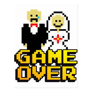 Spiel über der Heirat (8-Bit) Postkarte