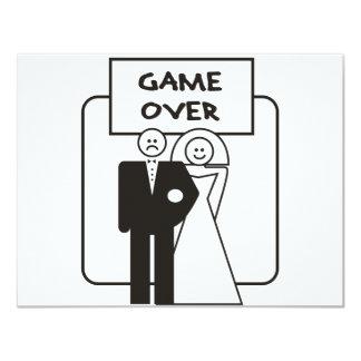 Spiel über Heirat 10,8 X 14 Cm Einladungskarte