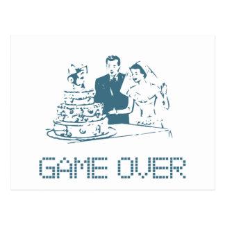Spiel über (Heirat) Postkarte