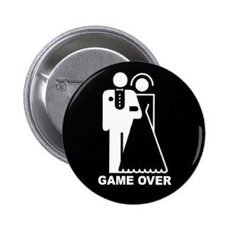 Spiel über Knopf Runder Button 5,1 Cm