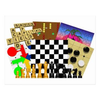 Spiel-und Puzzlespiel-Woche Postkarte