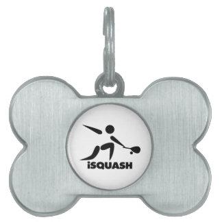 Spiel von Kürbis iSquash Logo Tiermarke