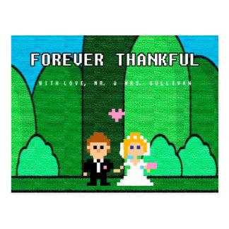 Spiel-waagerecht ausgerichtete hohe Hochzeit Postkarte