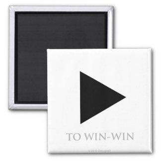 Spiel zu mit Gewinn für beide Parteien - Magnet Quadratischer Magnet