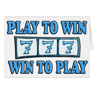 Spiel zu mit Gewinn für beide Parteien, zum - der Grußkarte