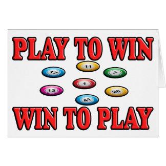 Spiel zu mit Gewinn für beide Parteien, zum - von Grußkarte