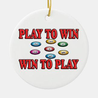Spiel zu mit Gewinn für beide Parteien, zum - von Rundes Keramik Ornament