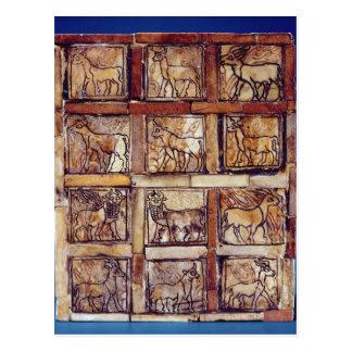 Spielbrett, Tiere des Feldes und Wald Postkarte