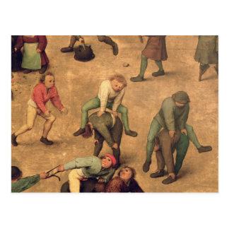 Spieldetail der Kinder des Spielens des Bockspring Postkarte