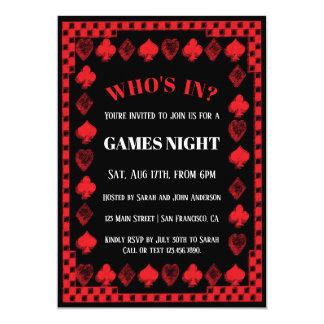 Spiele/Poker-Nachteinladungen Karte