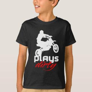Spiele schmutzig - Typ T-Shirt
