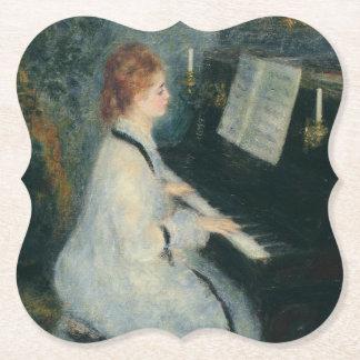Spielen des Klaviers durch Kerzenlicht Untersetzer