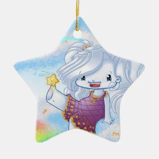 Spielen mit kleinem Stern Ornament