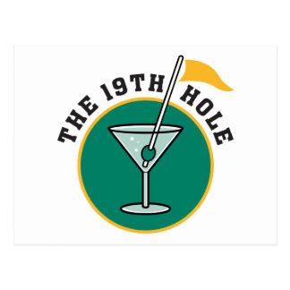 Spielen Sie das 19. Loch-Trinken Golf Postkarte