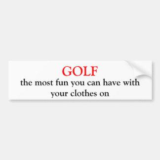 SPIELEN Sie, der meiste Spaß Golf, den Sie mit Autoaufkleber