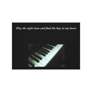 Spielen Sie die rechte Melodien-Leinwand Leinwanddruck