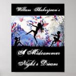 Spielen Sie einen Sommernachtstraum William Shakes Plakatdruck