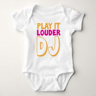 SPIELEN Sie es LAUTERES DJ! Baby Strampler