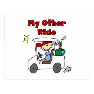 Spielen Sie meine andere Fahrt Golf Postkarte