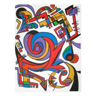 Spielen Sie mich etwas Jazz - abstrakte Postkarte