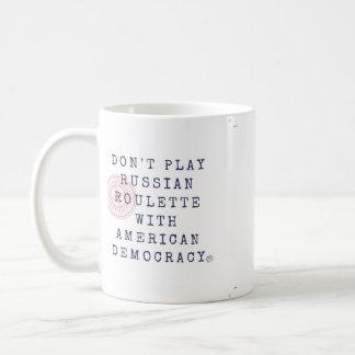 Spielen Sie nicht russischer Roulette-Kaffee-Tasse Kaffeetasse