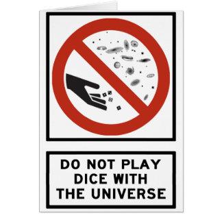Spielen Sie nicht Würfel mit dem Karte