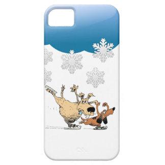 Spielende Hunde und Eis-Skaten - Entwurf auf iPhone 5 Hülle