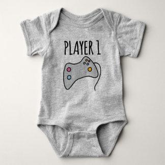 Spieler 3 des Spieler-1 des Spieler-2 Baby Strampler