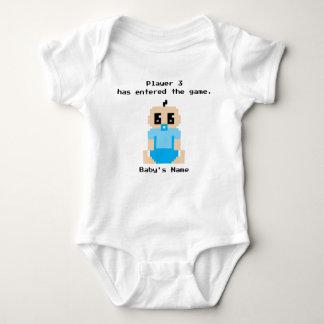 Spieler 3 hat das Spiel-Baby-Jungen-Shirt betreten Baby Strampler