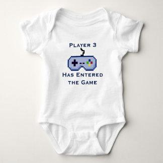 Spieler 3 hat das Spiel-Strampler-Shirt betreten Baby Strampler