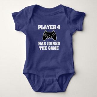Spieler 4 hat sich dem Spiel - Babygamer-Shirt Baby Strampler
