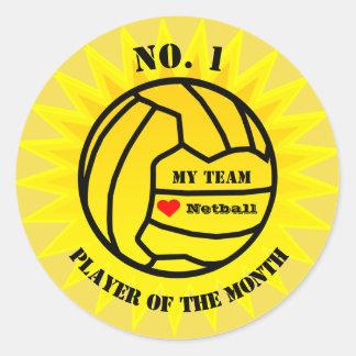 Spieler der Monatnetball-Belohnung Runder Aufkleber