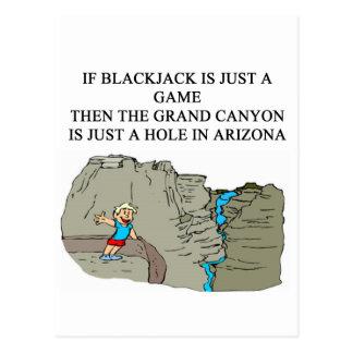 Spieler des BLACKJACK 21 Postkarte