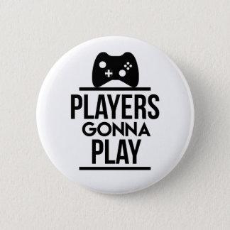 Spieler, die gehen, Xbox-Knopf zu spielen Runder Button 5,7 Cm